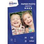 Papier AVERY 35 Photos brillantes A4 230