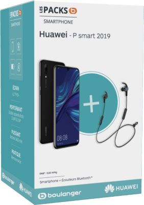 Smartphone Huawei Pack P Smart 2019 + Ecouteurs AM61