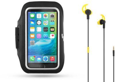 Accessoire Tnb noir + écouteurs ergo. noir/jaune