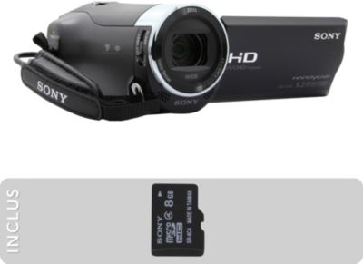 Caméscope Sony Pack HDR-CX240 + MicroSD 8Go