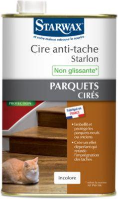 Cire Starwax anti tache starlon incolore pour parquet