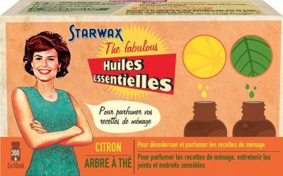 Huiles Essentielles starwax the fabulous 2 huiles essentielles citron / tea tree