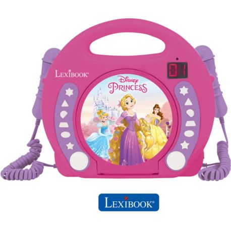 Lecteur CD LEXIBOOK RCDK100DP Disney Princesses + micros