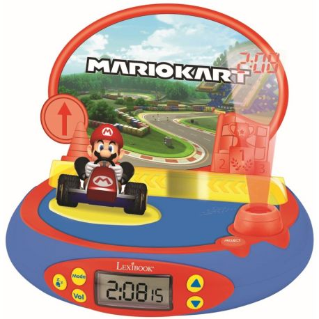 Radio-réveil LEXIBOOK RP500UNI Projecteur Nintendo Mario Kart