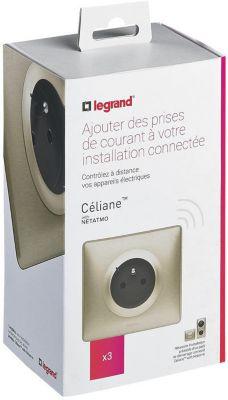 Prise connectée Legrand Pack 3 prises Céliane with Netatmo...