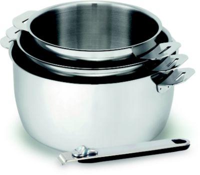 Batterie de cuisine kitchen fun move on 3 casseroles 16-18-20cm + manche