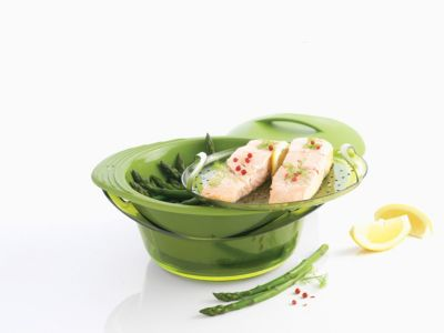 Cuiseur vapeur Mastrad silicone vert