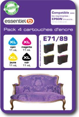 Cartouche d'encre Essentielb E71/89 Pack 4 couleurs