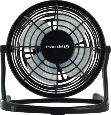 essentielb usb brasseur d 39 air noir ventilateur boulanger. Black Bedroom Furniture Sets. Home Design Ideas