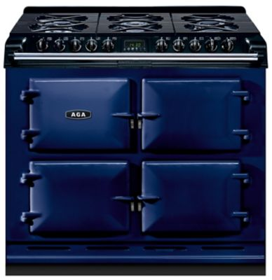 piano de cuisson aga 6x4 gaz bleu fonce boulanger. Black Bedroom Furniture Sets. Home Design Ideas