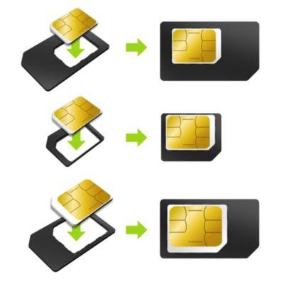 Adaptateur Carte sim essentielb pack de 3 cartes sim-Nano sim- micro sim
