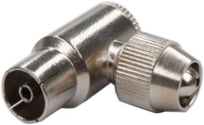 Adaptateur Câble tv/sat listo coaxiale coudée fiche métal