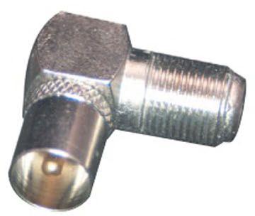Adaptateur Câble tv/sat essentielb coudé f femelle/9.52 mâle métal