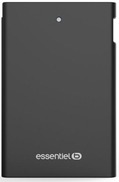 PowerBank ESSENTIELB 2500 mAh Journée Noir