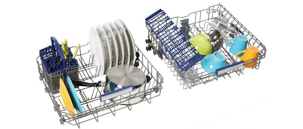 lave vaisselle pose libre 60 cm elv 458s silver essentiel b. Black Bedroom Furniture Sets. Home Design Ideas