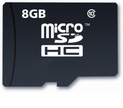 Carte Micro SD Listo 8Go micro SDHC CL10