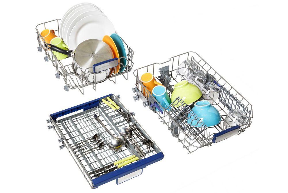 lave vaisselle pose libre 45 cm elvs3 458b blanc essentiel b. Black Bedroom Furniture Sets. Home Design Ideas