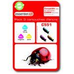 Cartouche ESSENTIELB C551 XL 3couleurs -