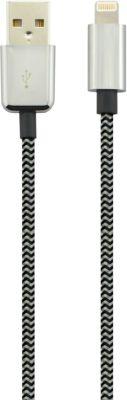 Câble Iphone essentielb 1m noir textile
