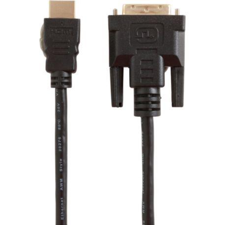 Câble ESSENTIELB 1M80 HDMI-DVI Mâle/Mâle