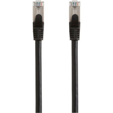 Câble Ethernet/RJ45 ESSENTIELB 25M Droit CAT6E noir