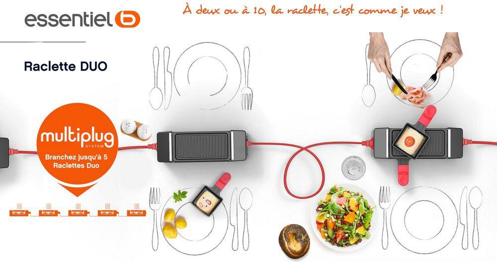 essentielb multiplug blanche raclette fondue boulanger. Black Bedroom Furniture Sets. Home Design Ideas