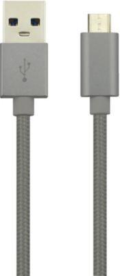Câble Micro usb essentielb 2m anthracite premium