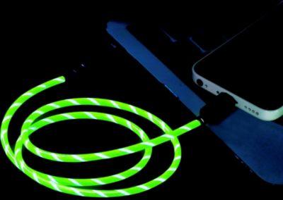 Câble iPhone Essentielb 80 CM Lumineux Vert