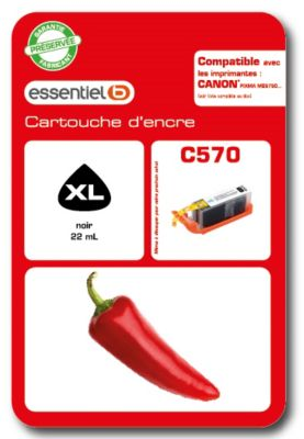 Cartouche d'encre Essentielb C570XL Noir Série piment