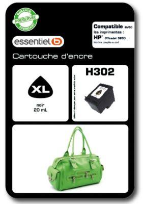 Cartouche d'encre Essentielb H302XL Noir Série Sac à mains