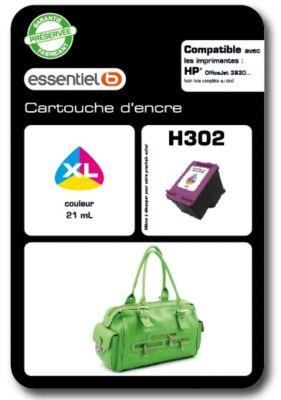 Cartouche d'encre Essentielb H302XL Couleurs Série Sac à mains