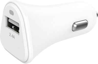 Chargeur Allume-Cigare essentielb usb 2,4a blanc