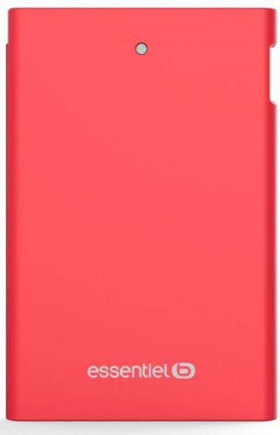 PowerBank ESSENTIELB 2500 mAh Journée Rouge