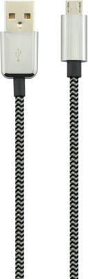 Câble Micro usb essentielb 1m noir textile