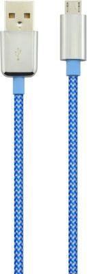 Câble Micro usb essentielb 1m bleu textile