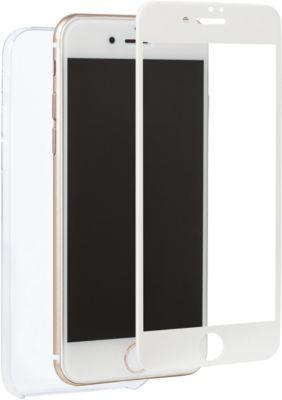Coque + protège écran adeqwat iphone 7 coque + verre trempé blanc
