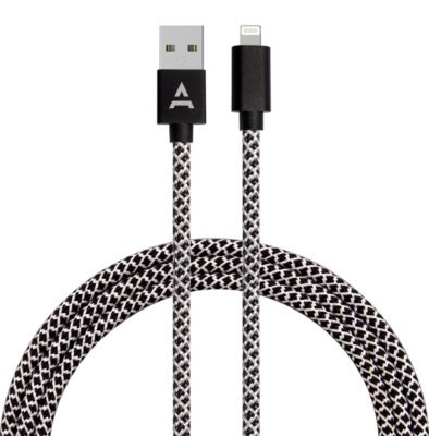 Câble iPhone Adeqwat 2M Noir/Blanc