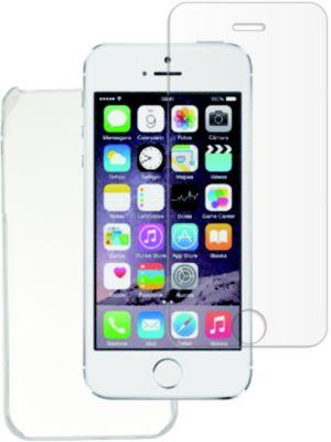 Coque + protège écran essentielb iphone 5s/se coque rigide + verre trempé