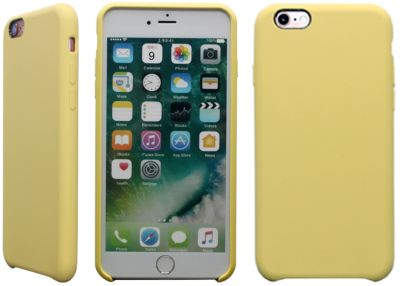 essentielb iphone 6 6s rigide velvet jaune accessoire. Black Bedroom Furniture Sets. Home Design Ideas