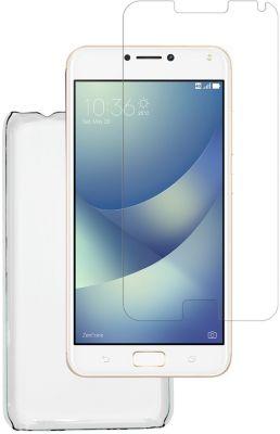 Coque + protège écran essentielb zenfone 4 max pro coque + verre trempé