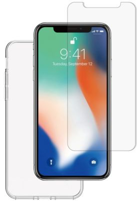 Coque + protège écran essentielb iphone x coque souple + verre trempé
