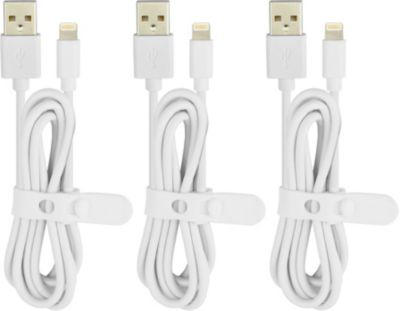 Câble Iphone essentielb pvc lightning: 3 x 1m blanc