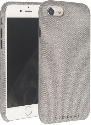 Coque Adeqwat iphone 7/8 textile gris clair