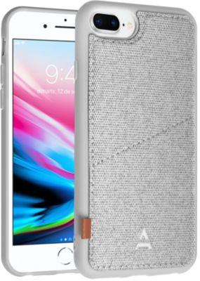 Coque Adeqwat iphone 7/8+ aimantée porte carte gris