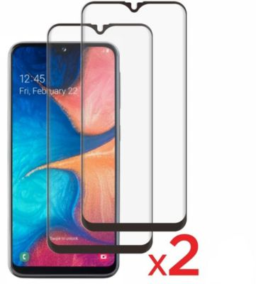 Protège écran Essentielb Samsung A20e Verre trempé intégral x2