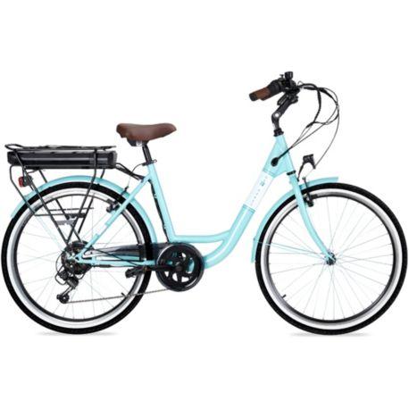 Vélo VAE ESSENTIELB Urban 400 vert d'eau