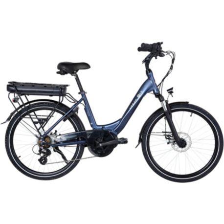 "Vélo VAE ESSENTIELB Urban 600 24"" bleu nuit"