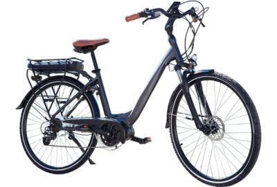 Vélo VAE ESSENTIELB URBAN 600 gris noir
