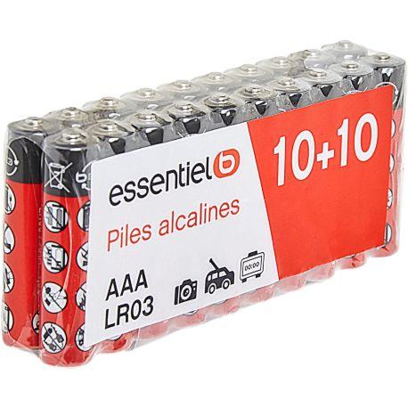 Pack ESSENTIELB 20 x LR03 / AAA