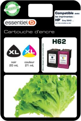 Cartouche d'encre Essentielb H62 XL Noir + Couleur
